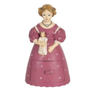 Figurina din polirasina roz alb Femeie 12  cm x 11 cm x 20 h