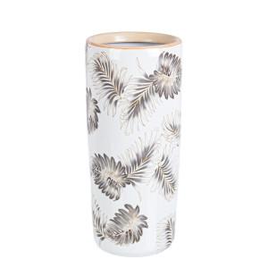 Suport umbrele portelan alb crem bej Leaf Ø 20 cm x 46 h