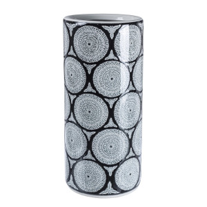 Suport umbrele portelan gri negru Antifone Ø 20 cm x 20 x 46 h
