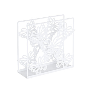 Suport pentru servetele metal alb 14 cm x 5 cm x 14h