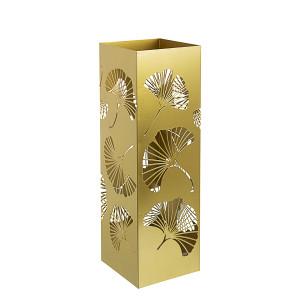 Suport umbrele metal auriu Ginkgo 16 cm x 16 cm x 48 h