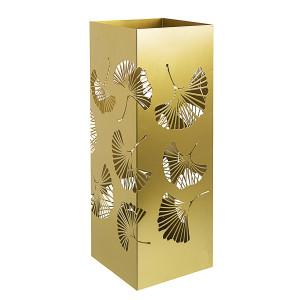 Suport umbrele metal auriu Ginkgo 19 cm x 19 cm x 52 h