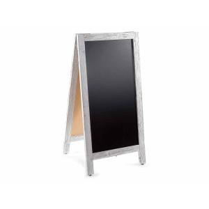 Tabla de scris cu suport din lemn alb antichizat 47.5 cm x 5 cm x 96 h