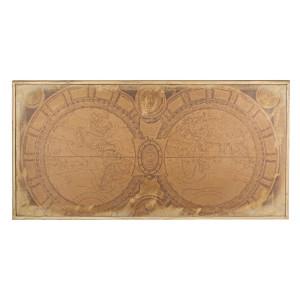 Tablou din lemn Harta Lumii 140 cm x 2.8 cm x 70 h