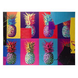 Tablou pe panza pictat in ulei Ananas 90 cm x 3.5 cm x 120 h