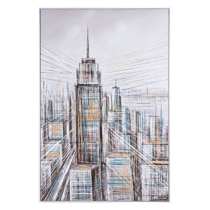 Tablou pictat in ulei City 82.5 cm x 4.5 cm x 122.5 h