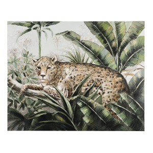 Tablou pe panza pictat in ulei Leopard 80 cm x 2.8 cm x 100 h