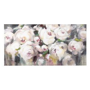 Tablou din lemn pictat in ulei Flowers 140 cm x 2.8 cm x 70 h