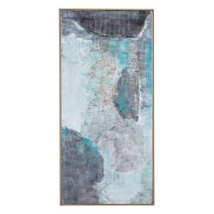 Tablou pe panza pictat in ulei Village 72.5 cm x 4.5 cm x 152.5 h