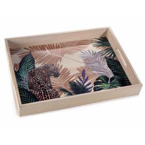 Tava decorativa din lemn Jungle 40 cm x 29,5 cm x 5 h