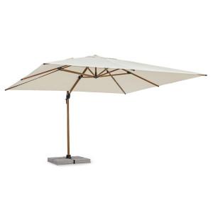 Umbrela de gradina cu picior aluminiu copertina textil bej Orion 400 cm x 400 cm x 270 h