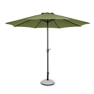 Umbrela de gradina cu picior din fier negru copertina textil verde Kalife Ø 300 cm x 242 h