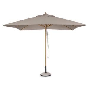 Umbrela de gradina cu picior din aluminiu si copertina textil crem Eclipse  300 cm x 300 cm x 260 h