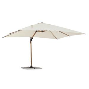 Umbrela de gradina cu picior din aluminium si copertina textil bej Orion 400 cm x 300 cm x 260 h