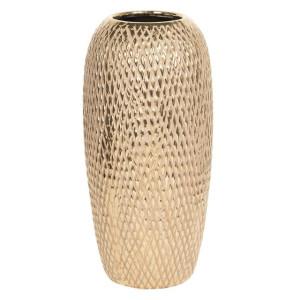 Vaza decorativa ceramica aurie Ø 13 cm x 26 cm