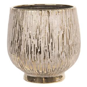 Vaza decorativa ceramica aurie Ø 19 cm x 19 cm