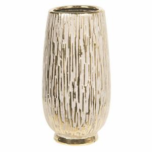 Vaza decorativa ceramica aurie Ø 13 cm x 25 cm