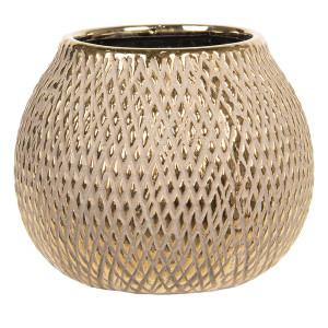 Vaza decorativa ceramica auriu Ø 15 cm x 12 cm