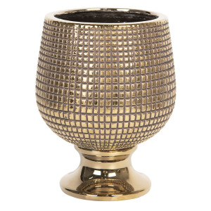 Vaza decorativa ceramica auriu Ø 14 cm x 17 cm