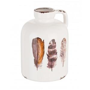 Carafa ceramica alba maro Huritt  Ø13 cm x 18 h