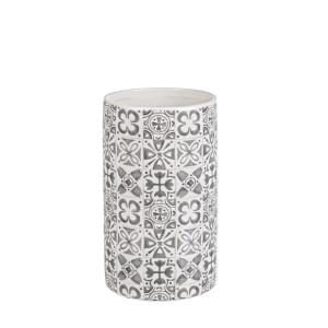 Vaza ceramica alb gri  Ares Ø 15 cm x 25 h