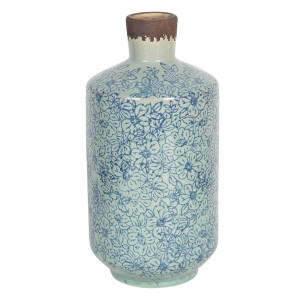 Vaza pentru flori ceramica albastra Ø 12 x 25 h