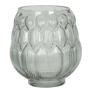 Vaza pentru flori din sticla verde Ø 14 x 16 h