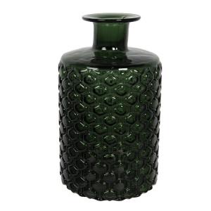 Vaza pentru flori din sticla verde Ø 15 x 26 h