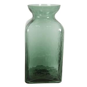 Vaza pentru flori din sticla verde Ø 12 x 25 h