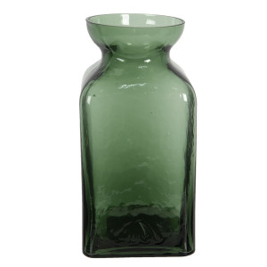 Vaza pentru flori din sticla verde Ø 10 x 19 h