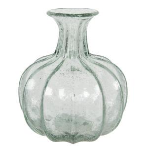 Vaza pentru flori din sticla albastra Ø 18 cm x 21 h