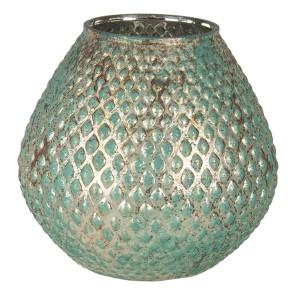 Vaza pentru flori din sticla verde Ø 15 x 15 h