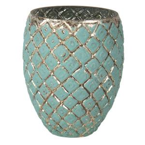 Vaza pentru flori din sticla verde Ø 18 x 14 h