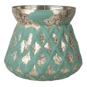 Vaza pentru flori din sticla verde Ø 16 x 19 h