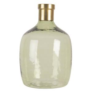 Vaza pentru flori din sticla verde auriu Ø 36 x 23 h