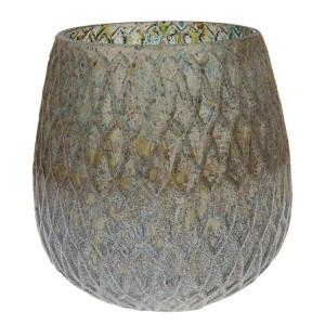 Vaza pentru flori din sticla multicolora Ø 14 x 15 h