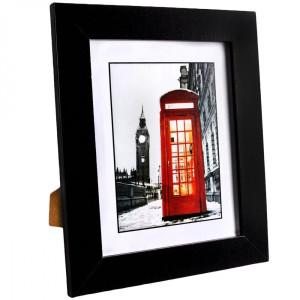 Rama foto de masa lemn negru 32 cm x 27 cm