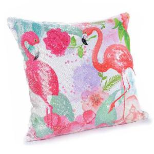 Fata de perna cu paiete reversibile Flamingo cm 40 x 40 H