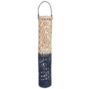 Felinar suspendabil bambus natur bleumarin Layla Ø 20 cm x100 h / 123 h suspendat