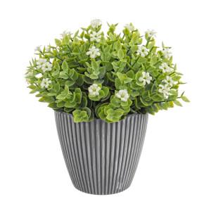Flori artificiale albe in ghiveci Ø16x16h