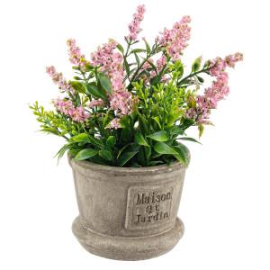 Flori artificiale roz in ghiveci Ø 8 cm x 20 h