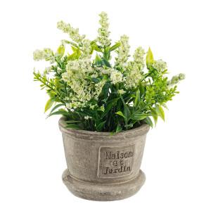 Flori artificiale albe in ghiveci Ø 8 cm x 20 h