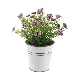 Flori artificiale mov in ghiveci Ø7x15h
