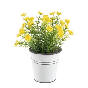 Flori artificiale galben in ghiveci Ø7x15h