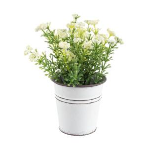 Flori artificiale alb in ghiveci Ø7x15h