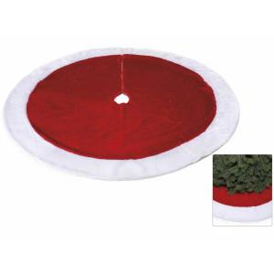 Covoras brad textil rosu alb 121 cm