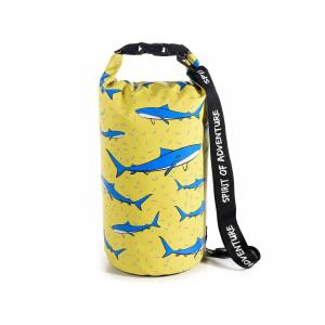 Rucsac din textil impermeabil galben albastru Ø 20 cm x 34 h
