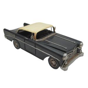 Macheta masina retro metal neagra 26*11*8 cm
