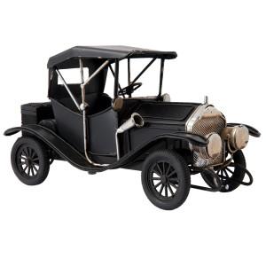 Macheta masina retro neagra metal 25*10*14 cm