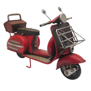 Macheta scuter retro burgundy metal 27*10*16 cm